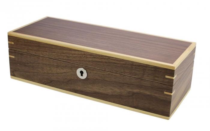 Cutie pentru 5 ceasuri lemn Copenhaga cu furnir de nuc-3020 [1]