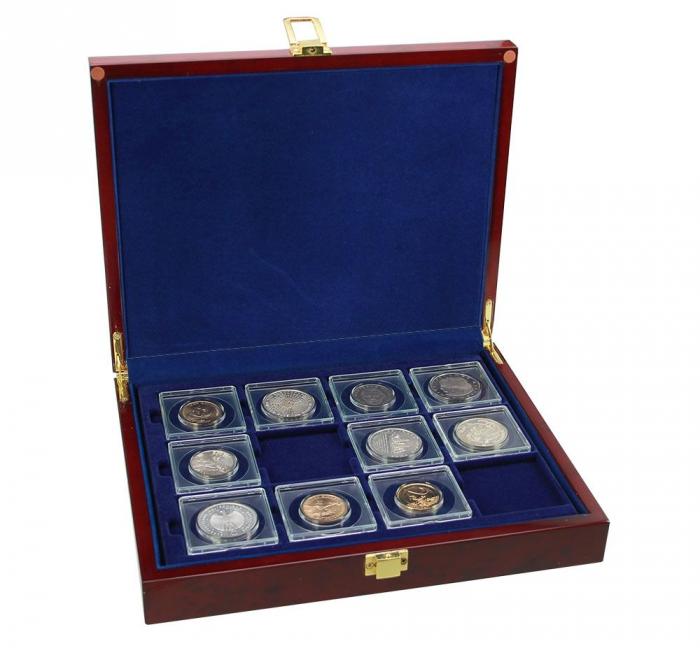 Cutie pentru monede in capsule patrate - Premium 0