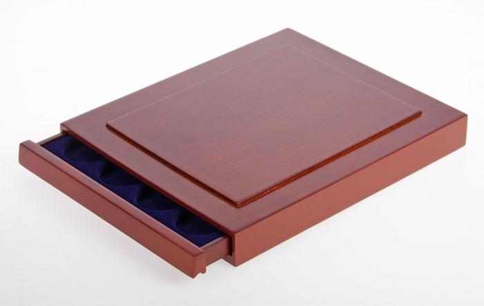 Cutie din lemn, Nova Exquisite, pentru 20 monede de 36 mm-6836 [0]