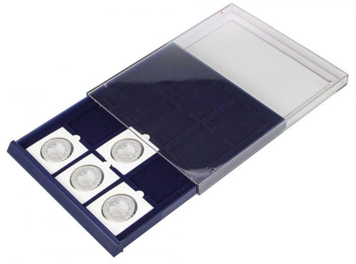 Tava cu carcasa acrilica si insertie in catifea albastra cu 6 spatii de 70 x 62 mm - Nova-Standard-6370 [5]