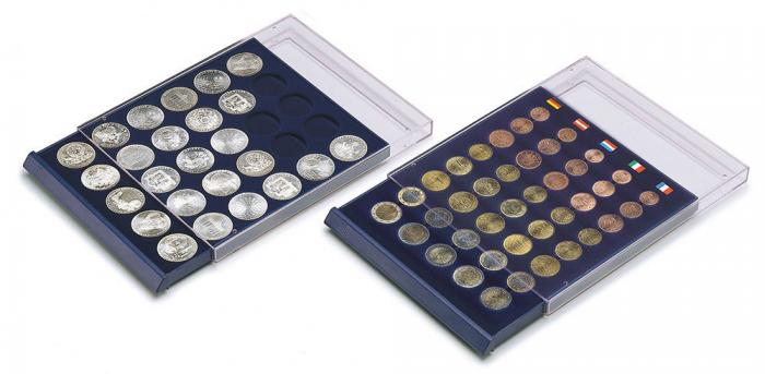 Tava cu carcasa acrilica si insertie in catifea albastra cu 6 spatii de 70 x 62 mm - Nova-Standard-6370 [3]