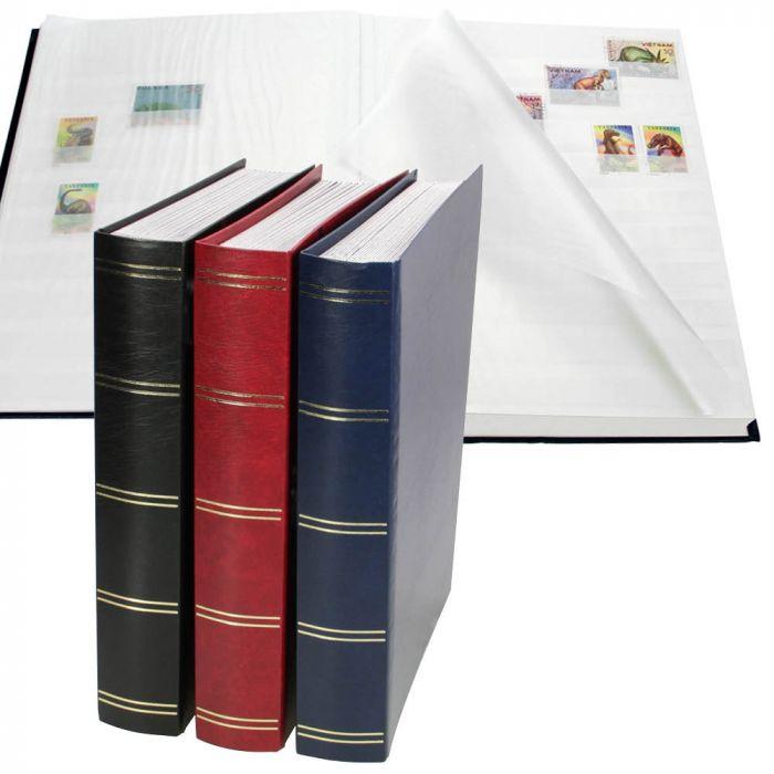 Clasor pentru timbre cu 64 pagini albe - divizor central - Burgundy-156-1 [0]