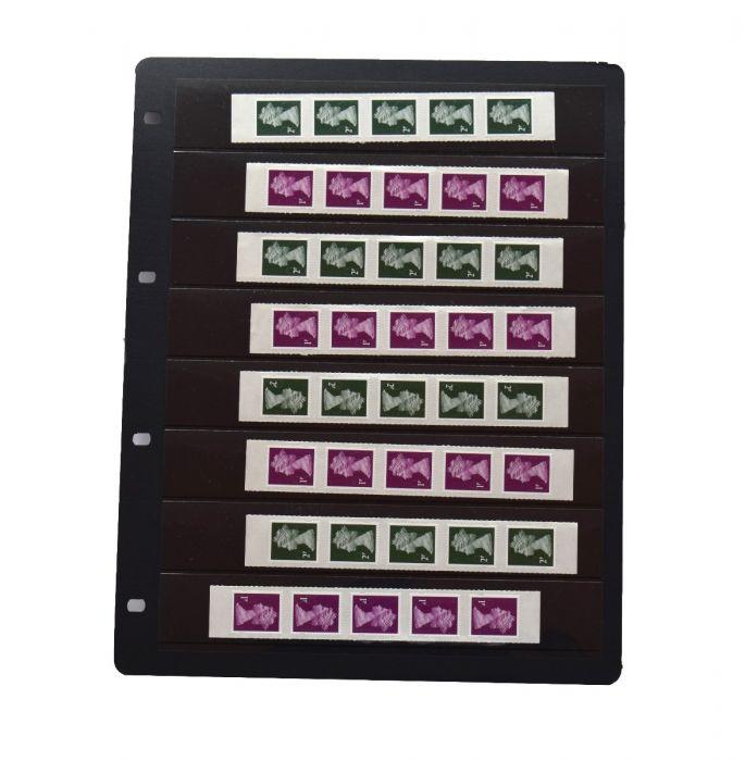 """Foaie pentru timbre cu 8 buzunare """"Clipfix"""" - 10 buc. [1]"""