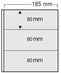 Folie transparenta cu intercalari bej, Variant, 3 buzunare 185 x 78 mm-563pa [0]