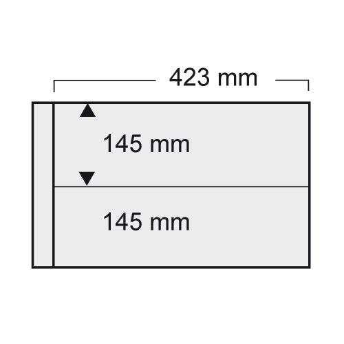 Folie A3 cu 2 buzunare - 423 x 145 mm pentru Albumul A3 1020-1022pa [0]