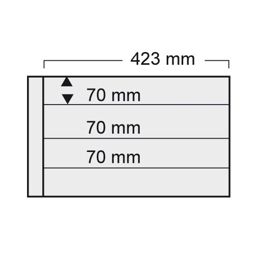 Folie A3 cu 4 buzunare - 423 x 70 mm pentru Albumul A3 1020-1024pa [0]