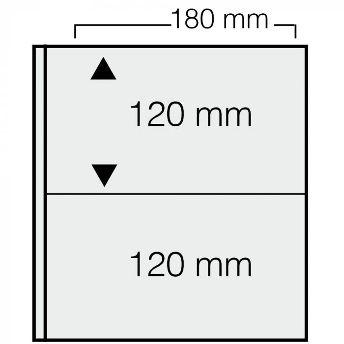 Set 10 Folii transparente cu 2 buzunare pentru bancnote - ARTline-1277PA [0]