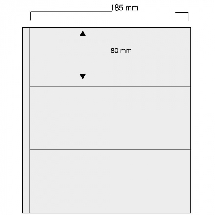 Folii negre cu 6 buzunare de 185 x 80 mm pentru bancnote - Universal-860pa [0]