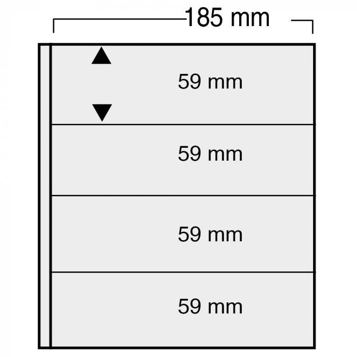 Folii negre cu 8 buzunare de 185 x 59 mm - Universal-861pa [0]