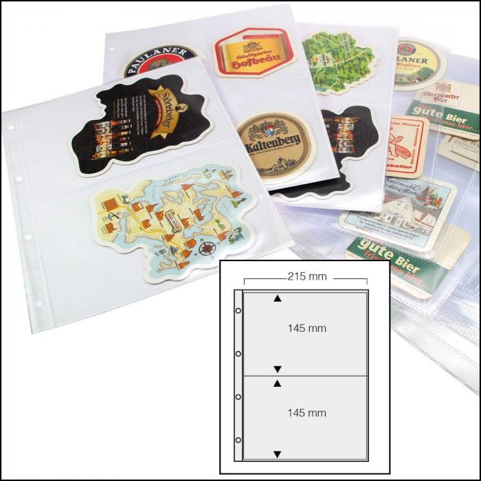 Folii pentru biscuti suport pahare, 2 buzunare, 215 x 145mm - 15 buc [0]