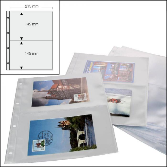 Folii pentru carti postale 2 buzunare - 15buc [0]