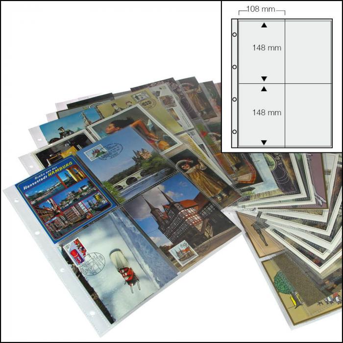 Folii pentru carti postale, 4 buzunare - 50buc [0]