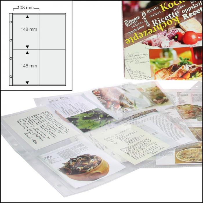 Folii transparente cu 4 buzunare - 50 bucati - 5474 XL [0]