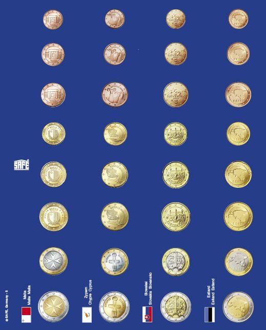 Pagini pentru seturi de monede euro in capsule - 6 buc 1