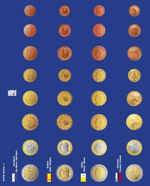 Pagini pentru seturi de monede euro in capsule - 6 buc 3