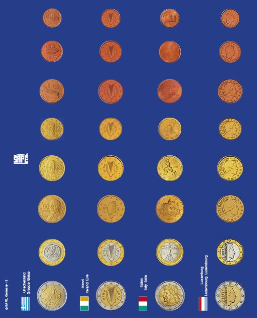 Pagini pentru seturi de monede euro in capsule - 6 buc 2