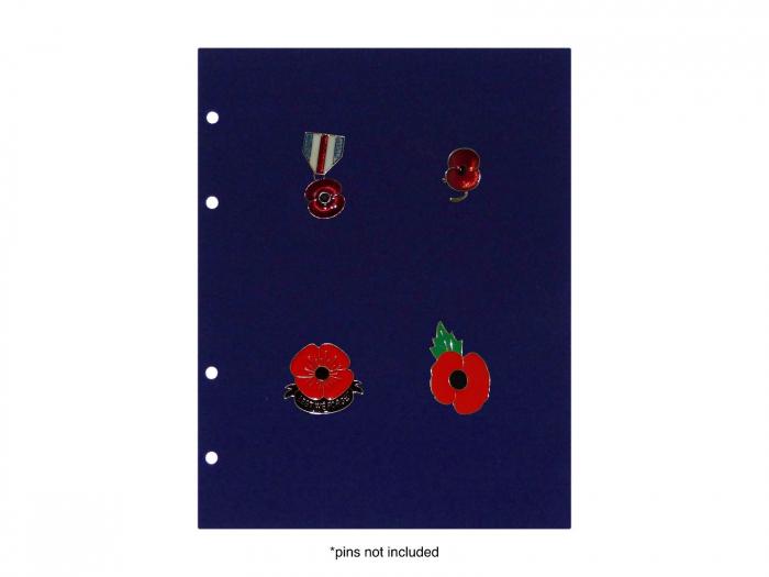 Panouri velur pini insigne medalii pentru albumul 7860 2