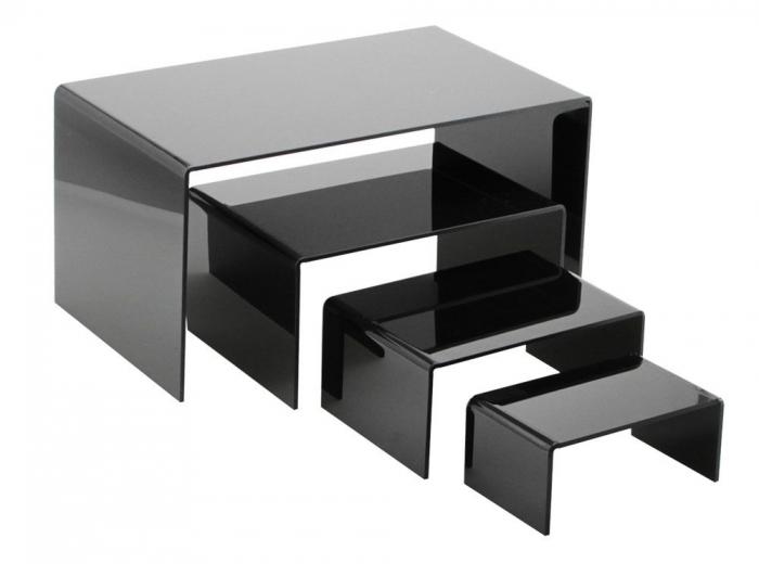 Pod de prezentare, sticla acrilica neagra 175 x 360 x 200 mm-5293-5 [0]