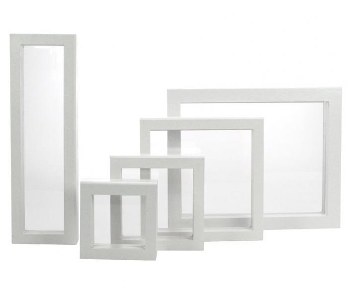 Rama 3D alba 180x180 mm [0]