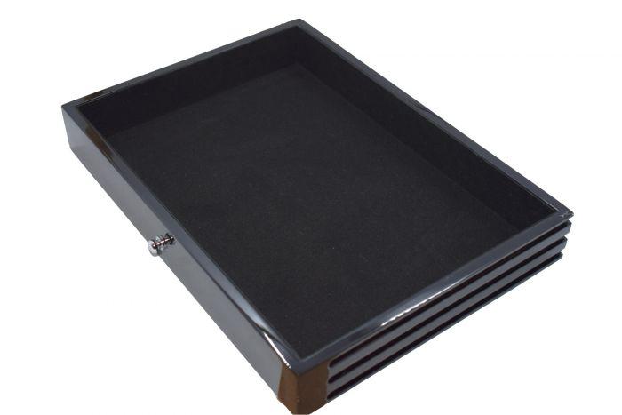 Sertar lemn, inaltime 49 mm, Black Lacquer, fara insertie albastra-5901-3 [0]