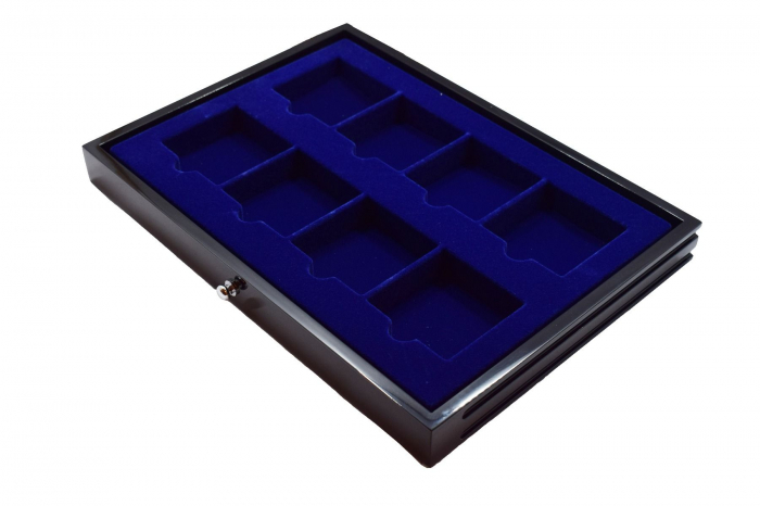 Sertar lemn inaltime 25 mm, Black Lacquer, 8 locasuri de 78 x 78 mm-5943 [0]