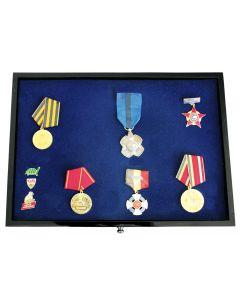 Sertar lemn inaltime 25 mm, Black Lacquer, pentru medalii, pini, insigne de rever-5866-2 [0]