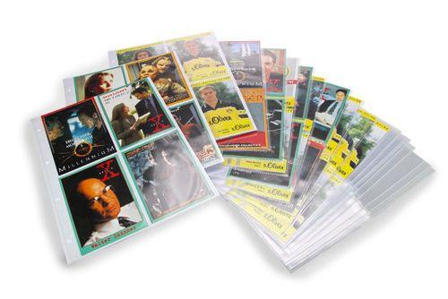 Set 50 Folii transparente 4 buzunare verticale 108 x 148 mm pentru Album de autografe 7927-5475XL [0]