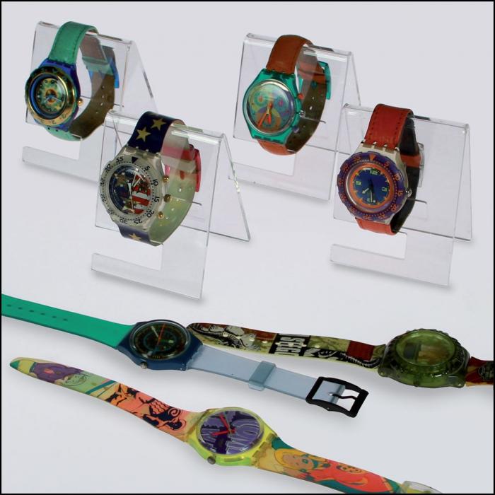Suport sticla acrilica pentru ceasuri - 90 x 70 x 65 mm - 3 bucati-5278 [0]