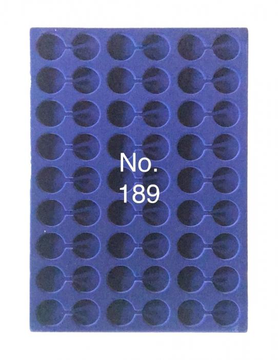 Tava pentru monede, 327 x 227 mm, in catifea albastra, 54 locasuri de 29,5 mm-189 [0]