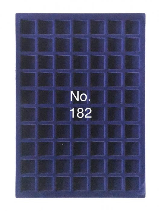 Tava pentru monede, 327 x 227 mm, in catifea albastra, 70 locasuri de 26 mm-182 [0]