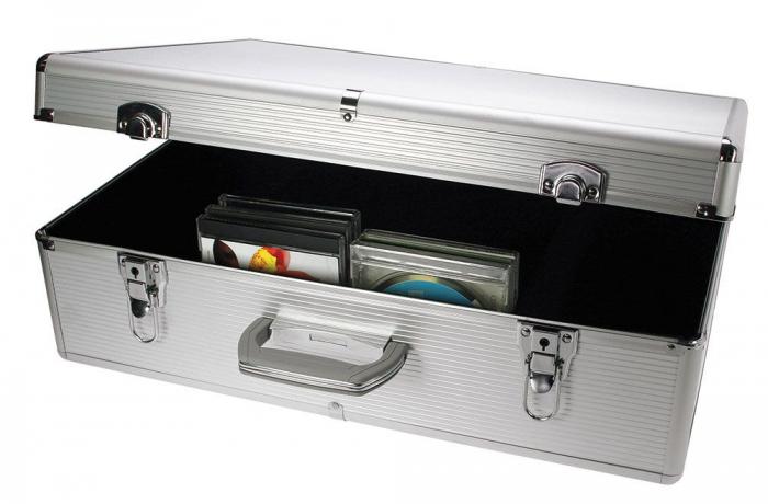 Valiza aluminiu pentru 144 CD-DVD in carcasa [1]