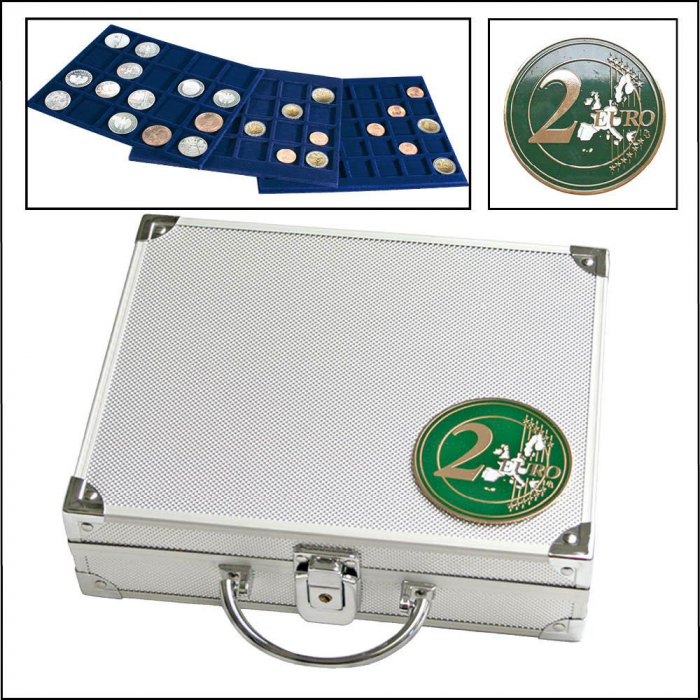 Valiza cu 6 tavi pentru monede de 2 euro in capsule-172 [0]