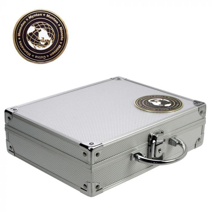 Valiza pentru monede cu 6 tavi pentru monede in capsule patrate-228 [1]