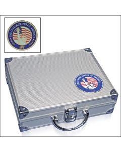 """Valiza din aluminiu cu 6 tavi """"Statele Unite ale Americii"""" [0]"""