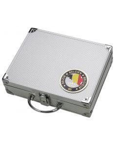 """Valiza din aluminiu cu insigna """"Belgia"""" [0]"""