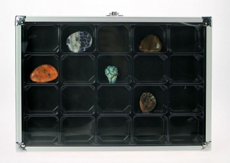 Vitrina aluminiu pentru figurine, roci, pietre, miniaturi, machete-5617 [0]