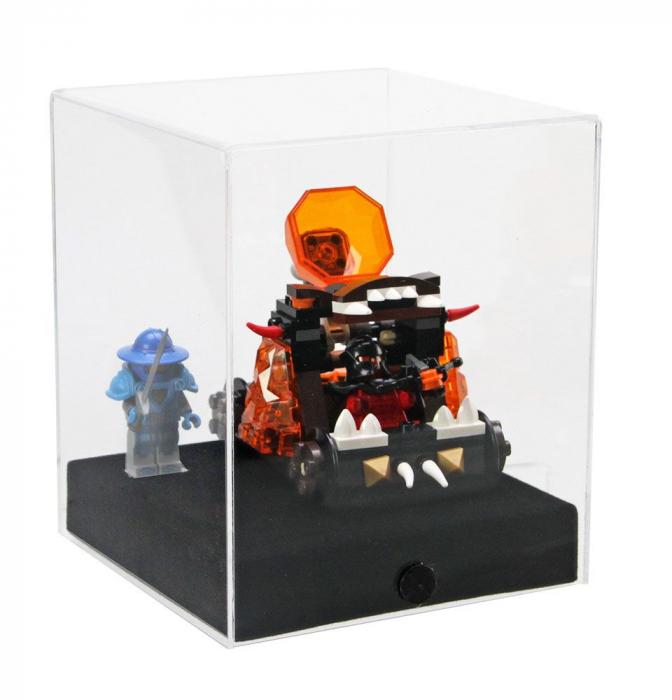 Vitrina-Cub 120 x 120 x 140 mm, prezentare figurine, machete, roci, minerale, ceasuri-5288 [4]