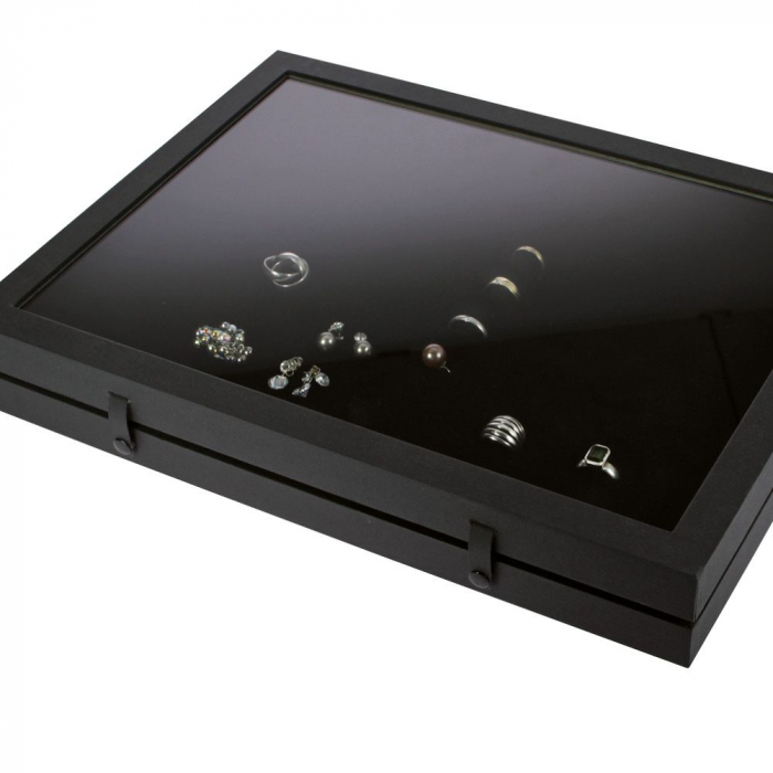 Vitrina Premium pentru 48 inele, butoni - Black Edition-5865 [2]