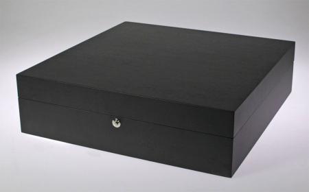 Caseta pentru ceasuri, lemn de frasin negru antracit pentru 12 ceasuri - Nobil-252 [1]