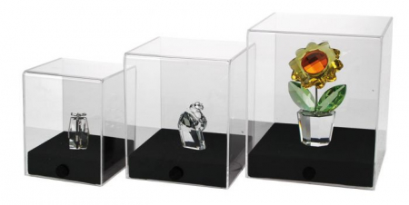 Vitrina expunere, 80 x 80 x 100 mm, cub acrilic pentru machete-5286 [2]