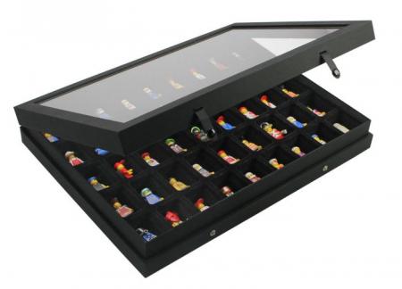 """Vitrina Premium """"Black Edition """" - 45 compartimente0"""