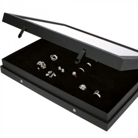 """Vitrina Premium """"Black Edition"""" - 48 compartimente0"""