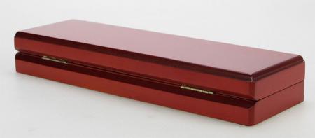 Cutie pentru monede, lemn de mahon, spuma cu memorie in catifea albastra pentru monede-7911 [2]