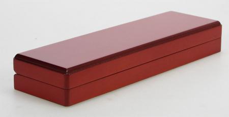 Cutie pentru monede, lemn de mahon, spuma cu memorie in catifea albastra pentru monede-7911 [4]