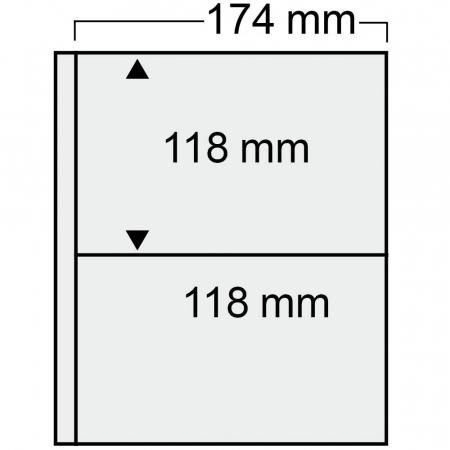 Album pentru carti postale de 174 x 118 mm, 20 folii transparente - Compact Luxus-7884 [1]