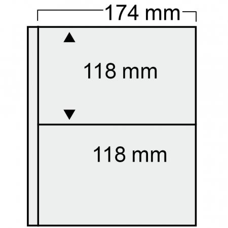 Album pentru carti postale, FDC, 15 folii negre - Compact Standard-7898 [1]