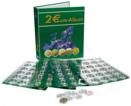 Album pentru monede de 2 Euro cu 4 pagini pentru 2004-2011 - Twin TopSet-8556-B1 [0]
