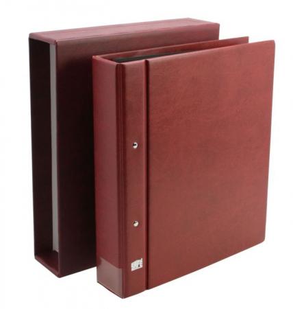 Clasor, Album, Coperta cu inele si etui, Burgundy - Compact A4-safe467 [1]