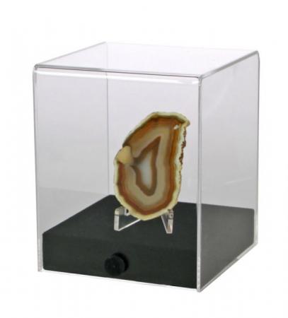 Cub, transp acrilic. 100x100x1200