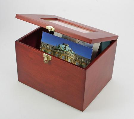 Cutie din lemn pentru fotografii, carti postale, scrisori-5870 [2]
